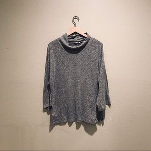 Gap Heather Gray Cowl Neck Pullover